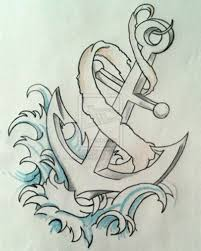 13 best girly anchor tattoo drawings images on pinterest draw