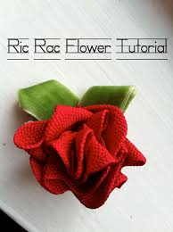 ric rac ribbon living the hyde ric rac ribbon flower a tutorial