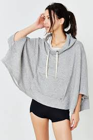 Without Walls Clothing by Without Walls Warm Up Poncho In Gray Lyst