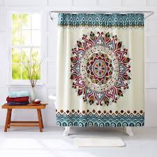 better homes and gardens medallion fabric shower curtain walmart com