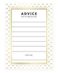 baby shower advice cards gold glitter baby advice cards for new parents neutral printable