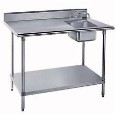 Folding Table With Sink Stainless Steel Table Ebay