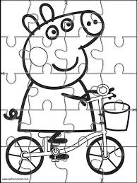 peppa pig printable jigsaw puzzles cut kids 2