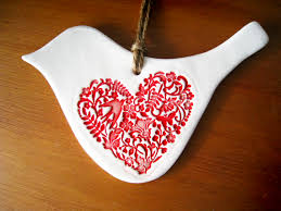 doves handmade ceramic christmas ornaments love to have just