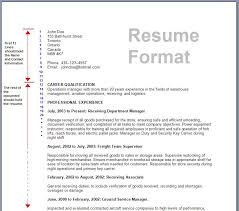 Sample Resume For All Types Of Jobs by Example Of A Resume Format Format Of Resume For Job Application