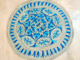 Round Woven Rugs Custom Handmade Rug Wool Embroidered Rug Round Circle Discovered