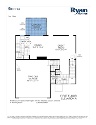 Home Design Plan And Elevation by Luxury Ryan Homes Venice Floor Plan New Home Plans Design And