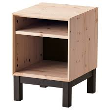 nightstand beautiful natural wood ikea nightstand with black