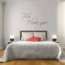Wall Stickers For Bedrooms Interior Design Ps I Love You Wall Stickers Quotes Vinyl Decal Couple Bedroom