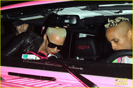 amber rose pink jeep kim kardashian u0026 amber rose hang out snap selfie after kanye west