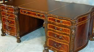 mahogany and more desks english mahogany leather top partners desk