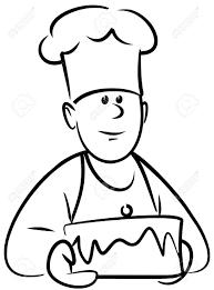 4961379 baker with cake vector stock vector chef cartoon baker