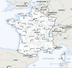 France Map With Cities by Vector Map Of France Political Vector Format France And Europe