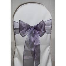 purple chair sashes purple organza chair sash great events rentals