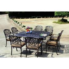 darlee elisabeth 9 piece cast aluminum patio dining set ultimate