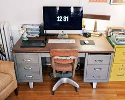 metal desk with file cabinet tanker desk office chairs more metal desks mad men and reuse