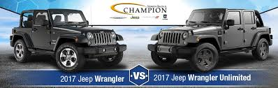 jeep wrangler limited vs unlimited 2017 jeep wrangler vs 2017 jeep wrangler unlimited indianapolis in