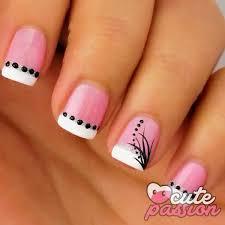 50 pink nail art designs pink polish white polish and black polish