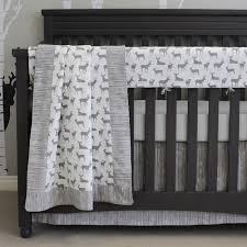 Grey Crib Bedding Sets Grey Deer Crib Bedding Set By Sweet Kyla Style My Nursery