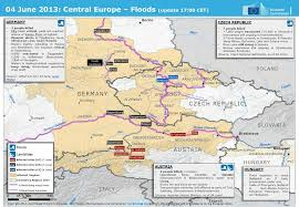 map germany austria map of floods in germany austria and republic europe