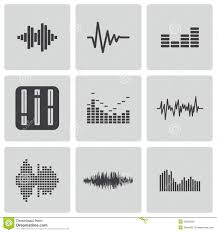 headphones icon with sound wave beats stock vector image 40860463