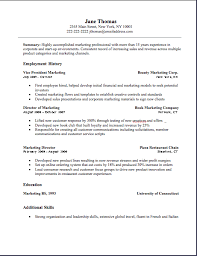 Marketing Resume Example by Marketing Resume Marketing Resume Sample