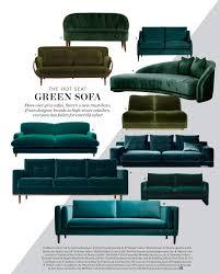 Emerald Green Velvet Sofa by Emerald Sofa Interior Design Trend 2017 Interiors By Color