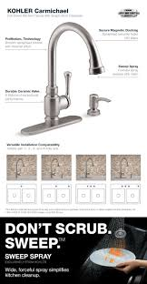 kohler gooseneck kitchen faucet kohler carmichael single handle pull down sprayer kitchen faucet