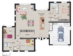 plan maison plain pied gratuit 3 chambres maison contemporaine de plain pied plain pied maisons