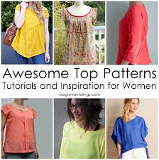 blouse sewing patterns awesome tops sewing patterns and inspiration and the of sew