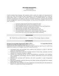 Social Work Resume Cover Letter Social Services Manager