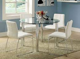 dining cool glass table industrial round dining table simple room sets diy round glass and chairs