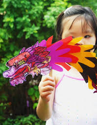 chinese new year craft handprint dragon puppet chinese dragon