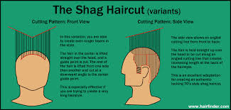 side and back views of shag hairstyle how to cut a shag haircut diagram