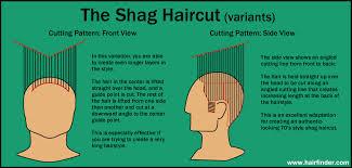 hair with shag back view how to cut a shag haircut diagram