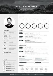 In Design Resume Template Mono Resume Curriculum Cv Template And Creative Cv