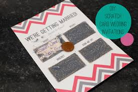 diy scratch card wedding invitations bespoke wedding
