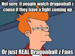 Dragonball Z Memes - not sure if people watch dragonball z cause if they have a fight