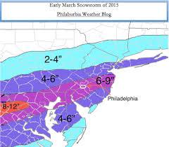 Snow Map Philaburbia Weather Blog Weather For The Philadelphia Region
