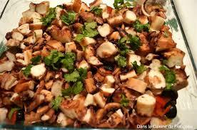 poulpe cuisine salade de poulpe à la portugaise dans la cuisine de françoise