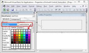 vba backcolor property of listbox explained with examples