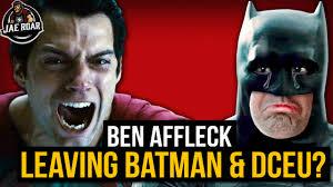 Affleck Batman Meme - ben affleck is leaving the batman dceu youtube