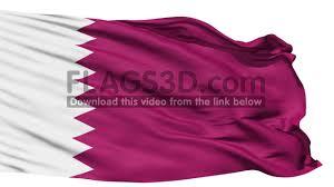 Flag Of Qatar Waving National Flag Of Qatar Youtube