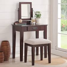 Corner Vanity Table Magnificent Narrow Makeup Vanity Table With Accessorize Bedroom