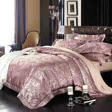 Jacquard Bedding Sets Royal Purple Paisley Park Print Retro Style Jacquard Design
