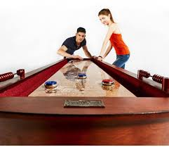 barrington 9 solid wood shuffleboard table barrington 9 ft classic wood shuffleboard table with wine rack ebay