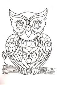 owl tattoo simple 582 best pattern owls images on pinterest drawings coloring