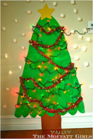 diy 18 alternative christmas trees safe for toddlers paper walls
