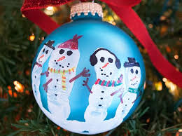 snowman ornament handprint easy craft ideas