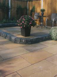 Indian Sandstone Patio by Autumn Brown Indian Sandstone 900x600 Patio Slabs